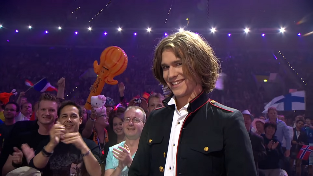Amaury Vasilli representing France in The Eurovision Song Contest 2011.