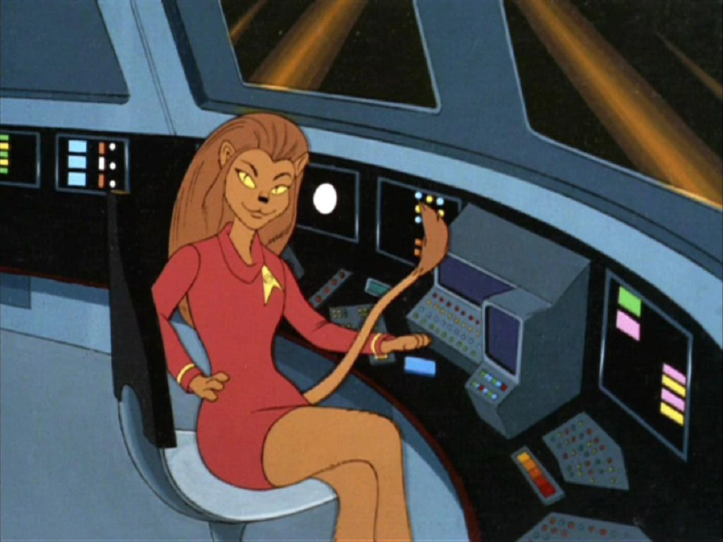 Lieutenant M'Ress from Star Trek: The Animated Series (Filmation, 1973-74).