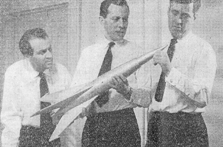 John Carson, Andrew Crawford and Barrie Gosney in Orbiter X (BBC Light Programme, 1959).