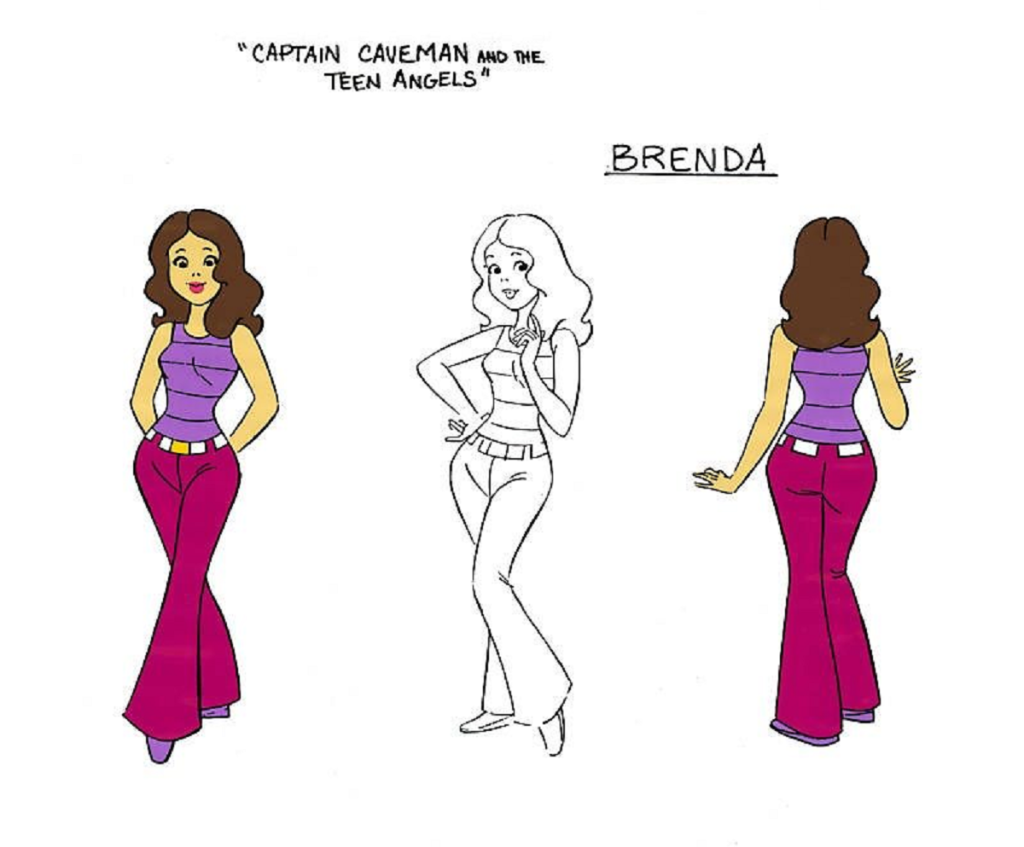 Brenda Chance from Captain Caveman And The Teen Angels (Hanna Barbera, 1977).